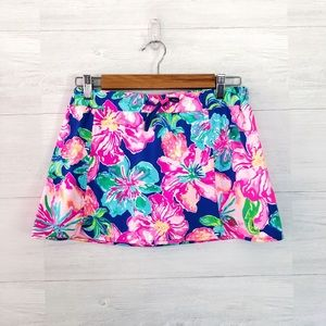 Lilly Pulitzer Blue Pink Floral Cover Up Skirt